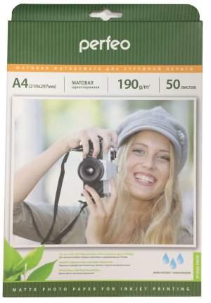 """Фотобумага """"Perfeo"""", матовая, А4, 50 листов, 190 г/м2"""