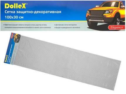 Сетка в бампер автомобиля Dollex 100х30см,Чёрная,Алюминий,ячейки 10х5,5мм,DKS-009