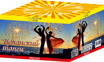 Супер-салют Русские Огни PRO101-1 Испанский танец 100 залпов