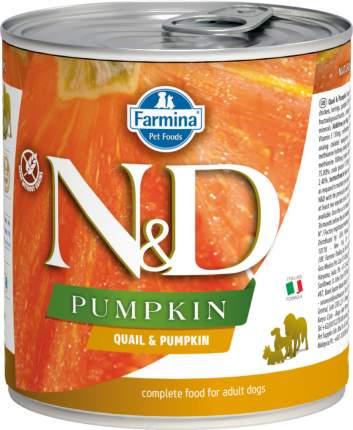 Влажный корм для собак Farmina N&D Pumpkin, перепел и тыква, 285г
