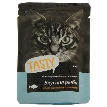 Влажный корм для кошек TASTY Petfood, с рыбой в желе, 25шт по 85г
