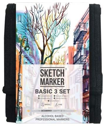 Набор маркеров Sketchmarker «Basic 3» 12 цветов (базовые оттенки)