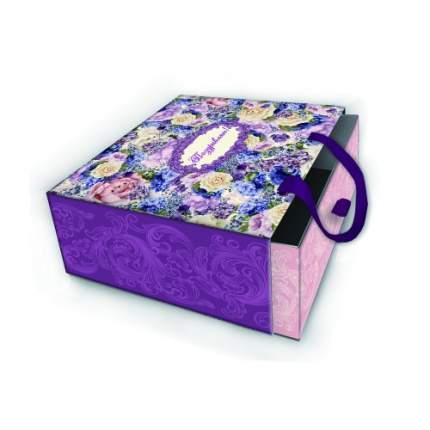 """Коробка подарочная """"Лиловые букеты"""""""
