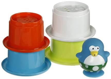 Игрушки для купания «Весёлые пингвины» со стаканчиками, 5 предметов Sima-Land