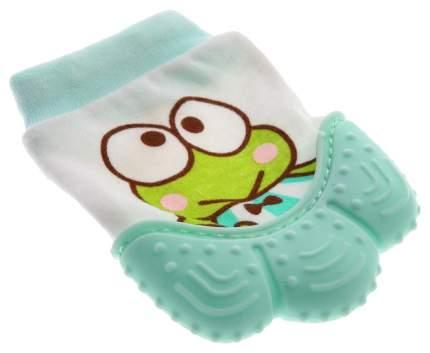 Прорезыватель рукавичка «Лягушонок», цвет зелёный Крошка Я