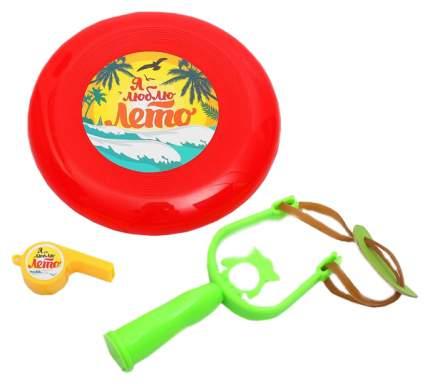 Рогатка, летающ тарелка, свисток Я люблю лето Sima-Land