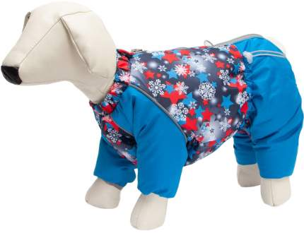 Комбинезон для собак OSSO Fashion Снежинка, мужской, сине-красный, L, длина спины 35 см