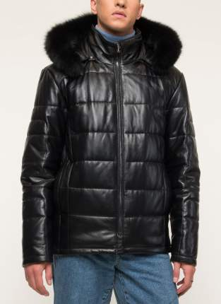 Кожаная куртка мужская Alfafur М-9307 черная 52 RU