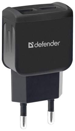 Сетевой адаптер питания Defender EPA-13 зарядка 2.1А 2 USB-порта чёрный