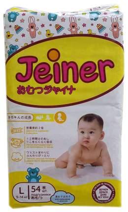 Подгузники Jeiner L (9-14 кг), 54 шт