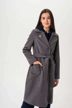 Пальто женское ElectraStyle 3-6040М-289 серое 52 RU