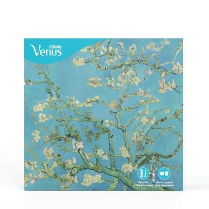 Набор Venus Comfortglide бритва с 3 смен.кас.+настенный держатель+дорож.футляр для бритвы