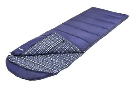 Спальный мешок Jungle Camp Glasgow, с фланелью, левая молния, цвет: синий