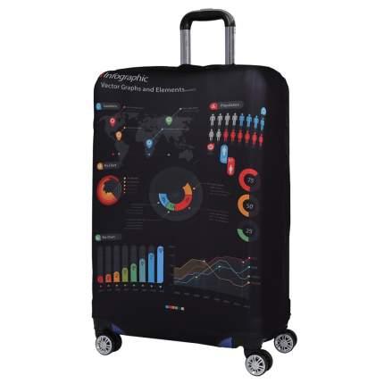 Чехол для чемодана Fabretti W1010 черный/разноцветный L