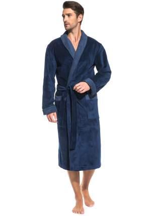 Мужской махровый халат Aristocrate PECHE MONNAIE 935, джинс, XL