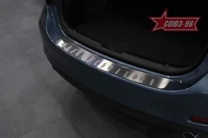 Накладка на наружные порог багажника Souz-96 с рисунком Mazda 5 2005-2019