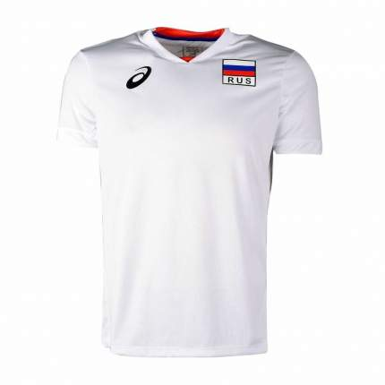 Поло Asics Man Russia SS Tee, white, XXL INT
