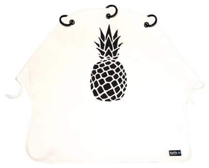 Накидка защитная на коляску и автокресло Pram Curtain Pineapple B&W