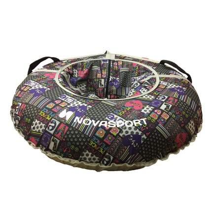 Санки надувные 110 см NovaSport peace love без камеры