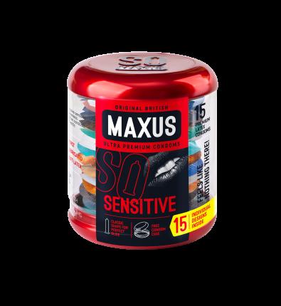 Презервативы Maxus Sensitive 0901-016 ультратонкие 15 шт. ж/к
