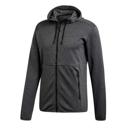 Мужская толстовка Adidas Climb the City Hooded FZ D73191 серый 50