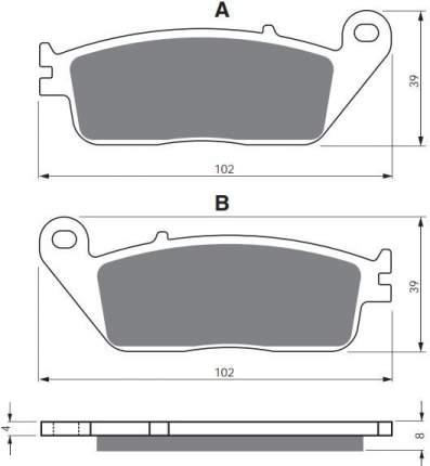 Тормозные колодки GoldFren 022 S3