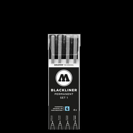 Набор линеров Molotow Blackliner Set 1