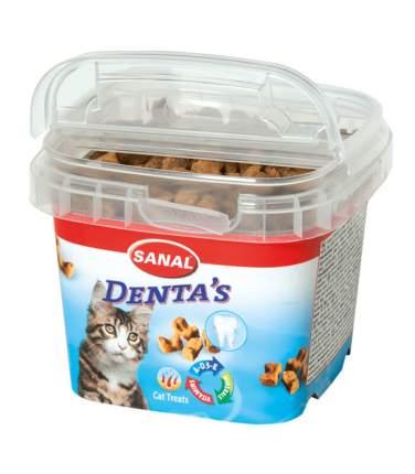 Лакомство для кошек Sanal Denta's, хрустящие крокеты для ухода за полостью рта, 75г