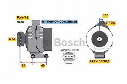 Генератор Bosch 0986044701