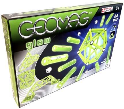Конструктор магнитный GEOMAG Glow 336 64 детали