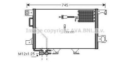 Радиатор кондиционера Ava MSA5361