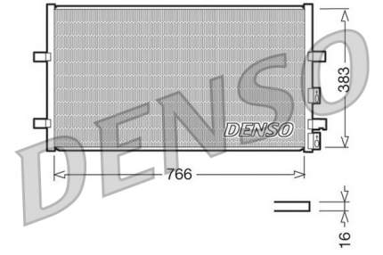 Радиатор кондиционера Denso DCN10009