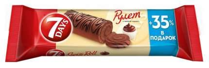 Рулет бисквитный 7 Days с кремом какао 300 г