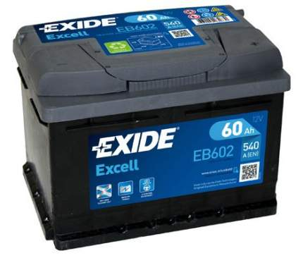 Аккумулятор автомобильный EXIDE EB602 60 Ач