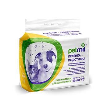 Пеленка-подстилка для домашних животных PETMIL 60x40 cм 30 штук