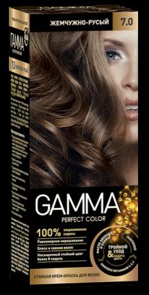 Краска для волос SVOBODA GAMMA Perfect color жемчужно-русый 7,0, 50гр