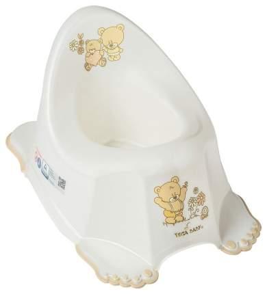 Горшок детский Tega baby Мишка антискользящий белый