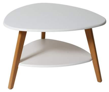 Журнальный столик Мебелик Бруклин 2591 77х78х50 см, белый/дуб светлый
