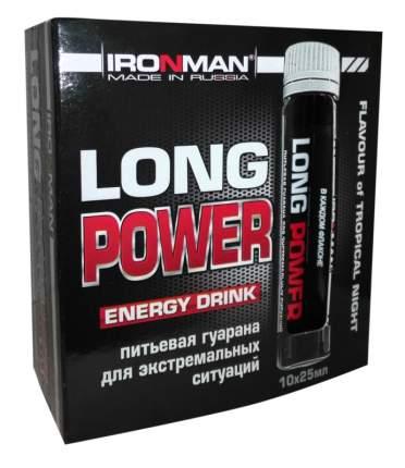 Энергетик Ironman Long Power Guarana, 10 x 25 мл, нейтральный
