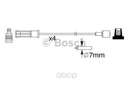 Комплект высоковольтных проводов Bosch 0986357184