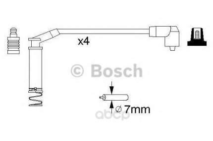 Провода высоковольтные комплект Bosch 0986357124