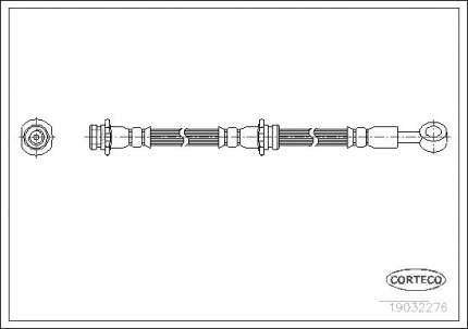 Шланг тормозной CORTECO 19032276