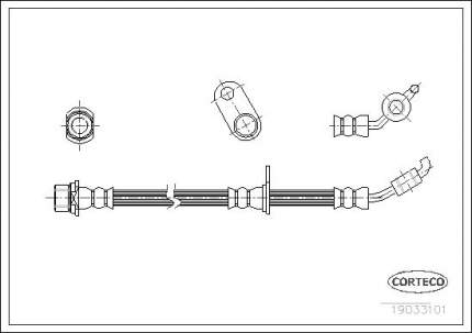 Шланг тормозной системы CORTECO 19033101