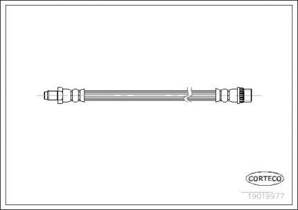 Шланг тормозной CORTECO 19019977