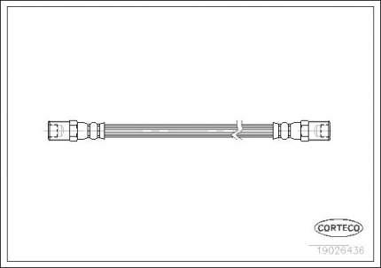 Шланг тормозной CORTECO 19026436