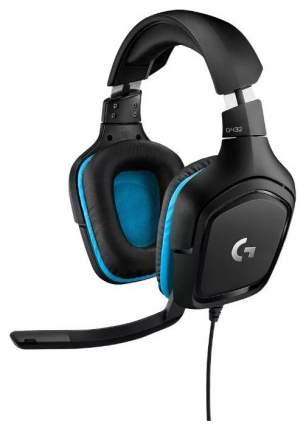 Игровые наушники Logitech G432 Black/Blue