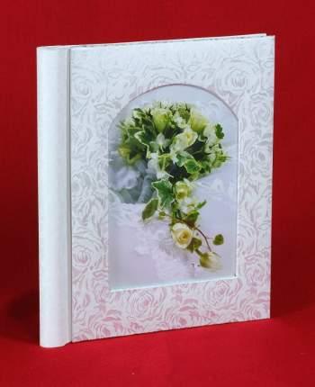 Фотоальбом свадебный на 20 магнитных страниц 23х28 см, цветочный узор
