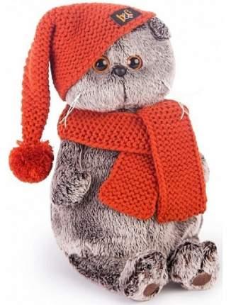Мягкая игрушка BUDI BASA Кот Басик в вязаной шапке и шарфе 25 см