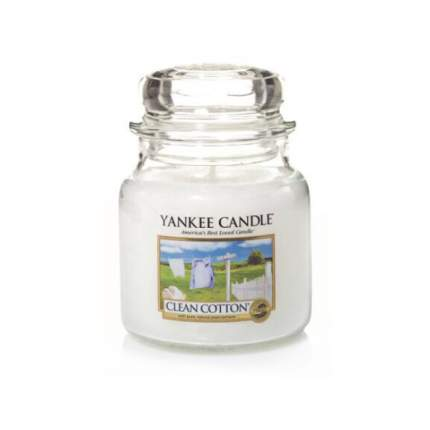 Ароматическая свеча Yankee Candle Clean Cotton Medium Jar Candle