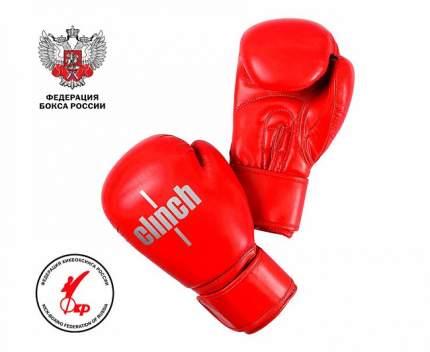 Боксерские перчатки Clinch Olimp Plus красные 10 унций